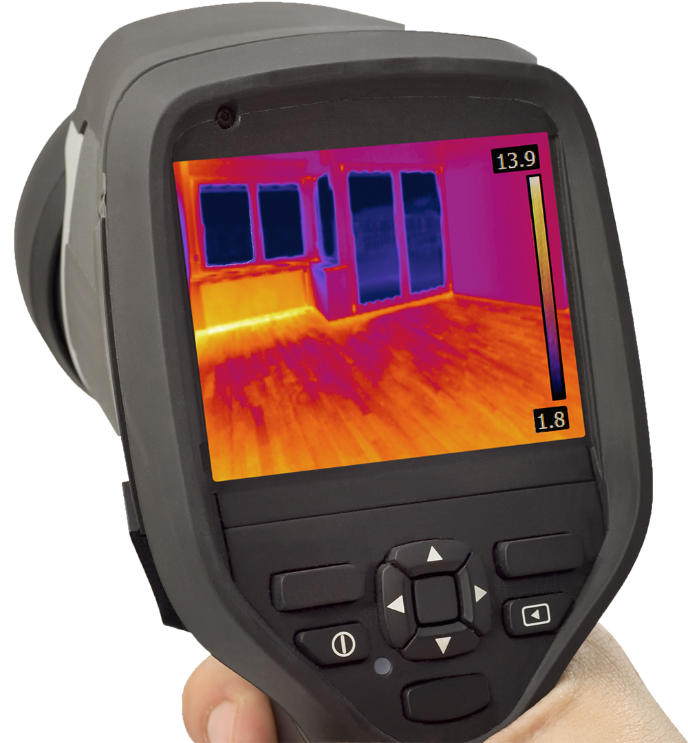 Thermal Imaging device used during during a home inspection